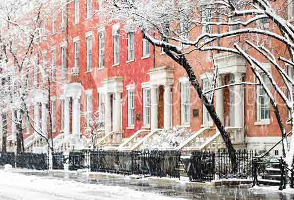 Exploring Greenwich-Village-Snowy Street