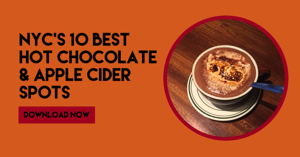 NYC's best hot cocoa and apple cider  downloadable ebook
